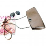 Posh Metallic Bronze Clutch