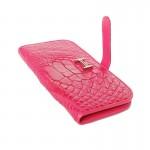 Wallet Paddock Crocodile Pink-1