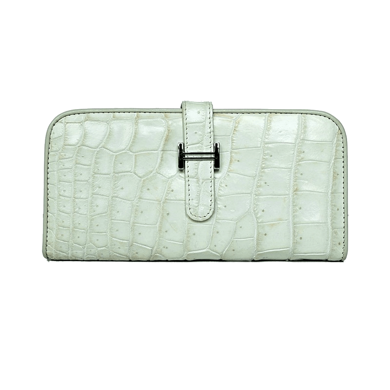 Wallet Paddock Crocodile Snow