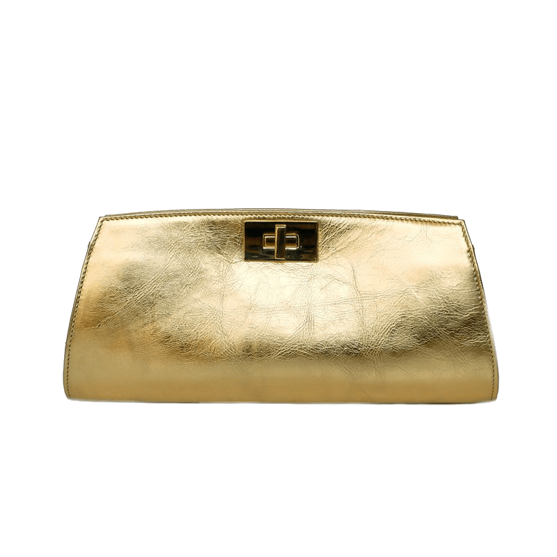 Posh Metallic Gold Clutch