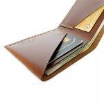 กระเป๋าสตางค์ Simple Compact Wallet Bi-fold Soft touch Oil pull up
