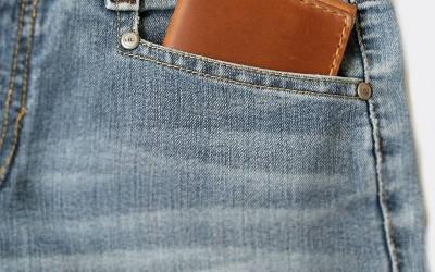 กระเป๋าสตางค์ ผู้ชาย ดีไซน์ใหม่ Wallet bi-fold Money Clip